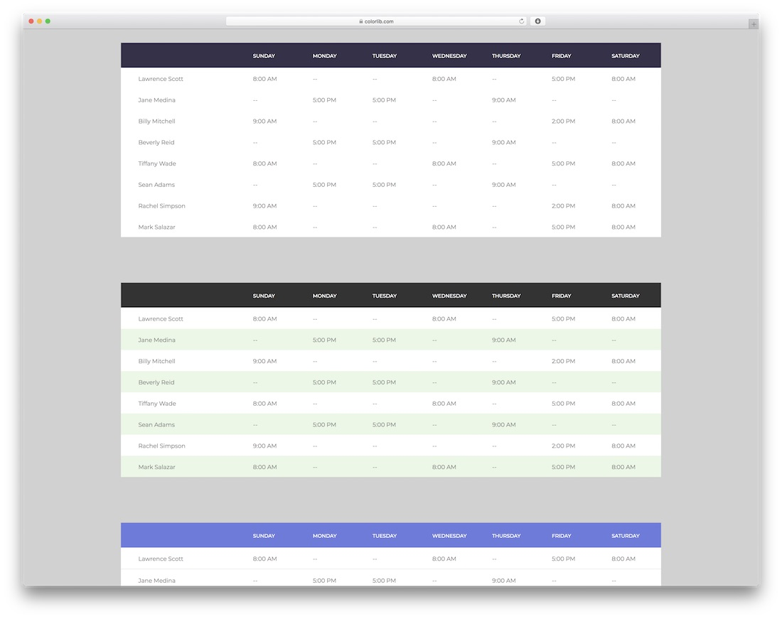 20 Ultimate Free CSS20 & HTML Table Templates 20   Colorlib