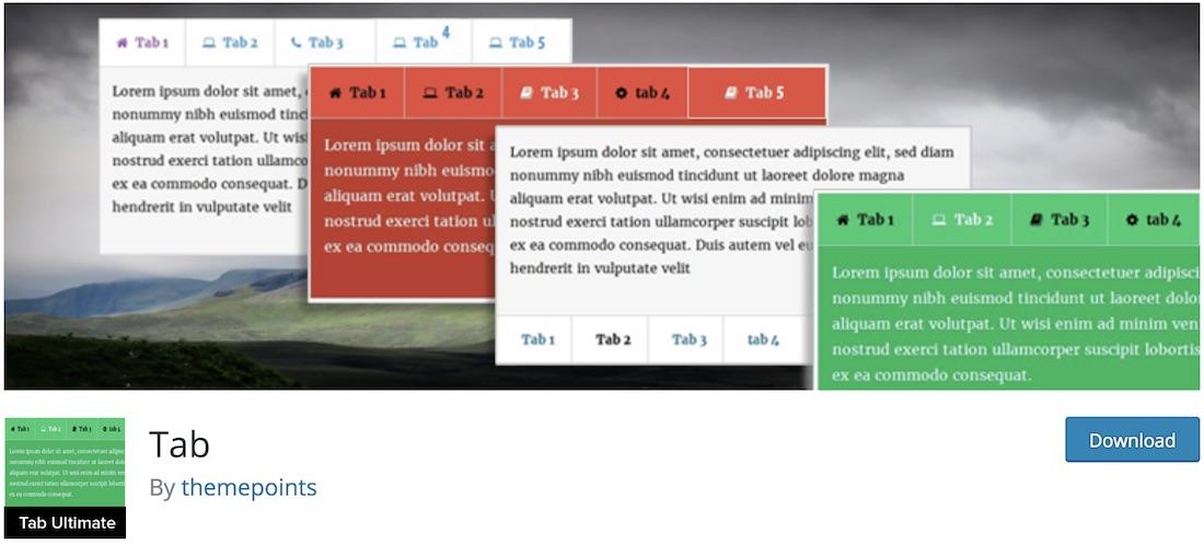 tabs pro wordpress tab plugin