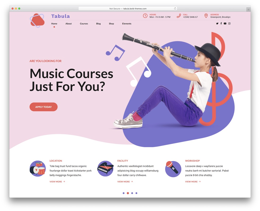 tabula music website template