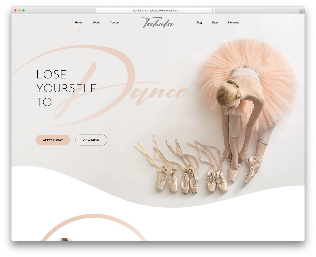 tabula wordpress themes for dance studio