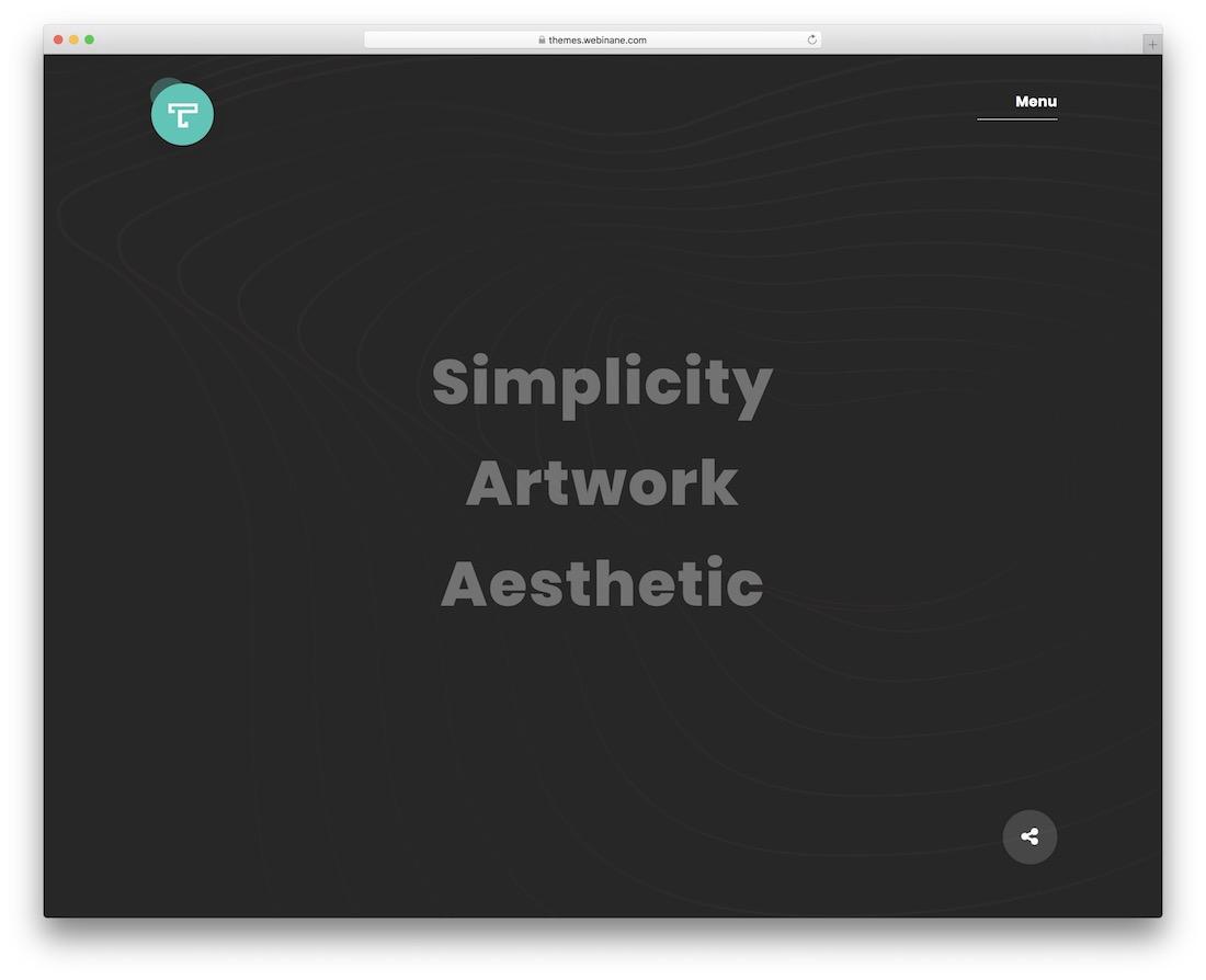tacon wordpress theme for artists