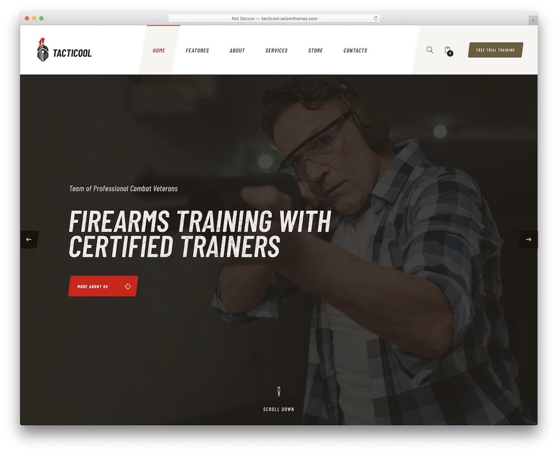 tacticool hunting wordpress theme