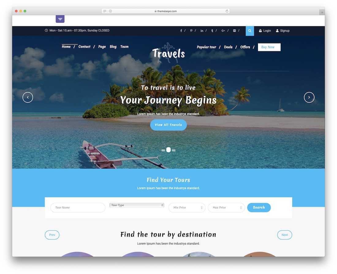 tafri travel free wordpress theme