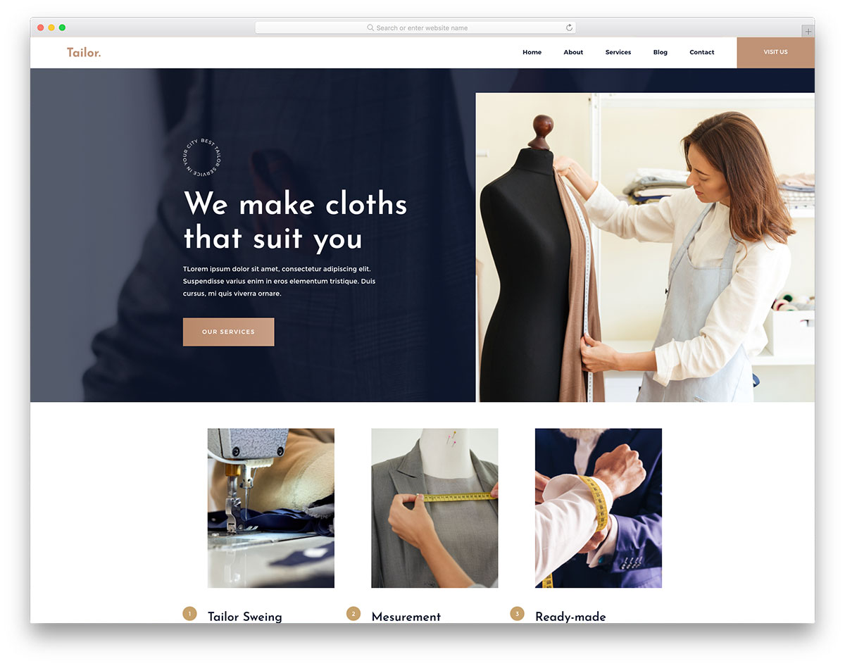 Tailor Free Template