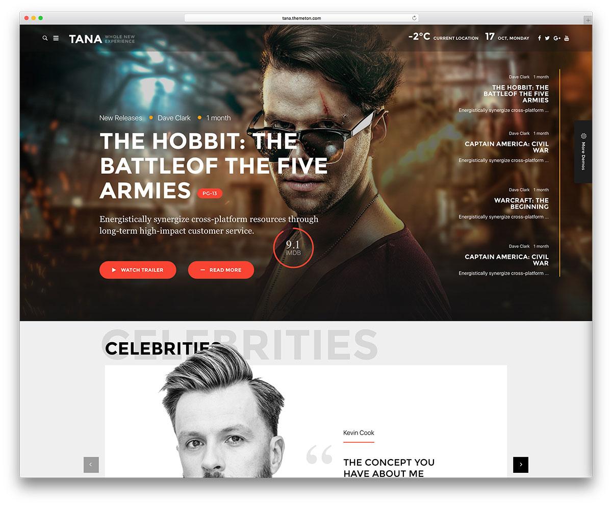 tana-entertainment-website-template
