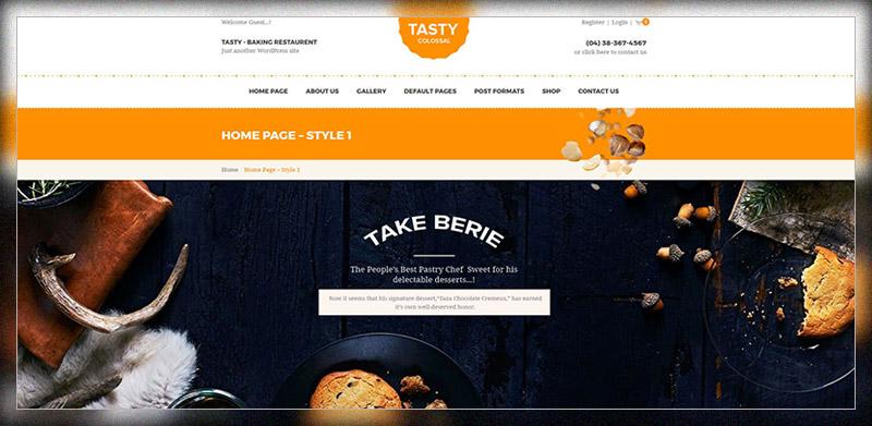 Tasty - WooCommerce Bakery WordPress Theme
