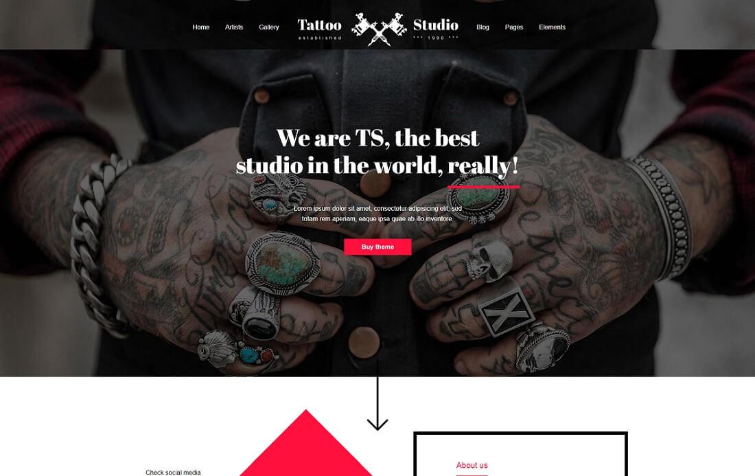 tattoo artist website template