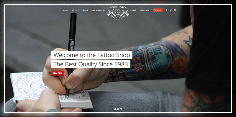 Tattoo Pro - Your Tattoo Shop WordPress Theme