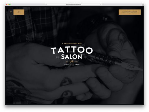 Tattoo Salon Wordpress Website Themes