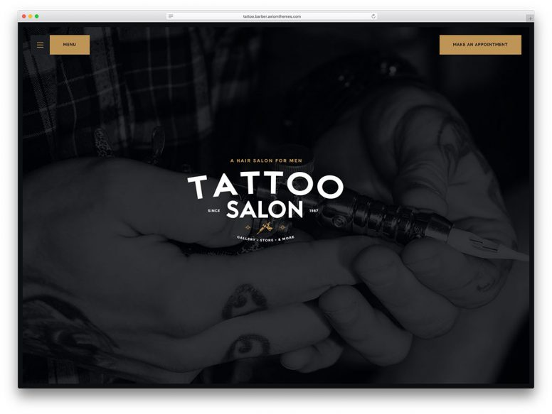 Top 10 Tattoo Salon WordPress Themes 2017