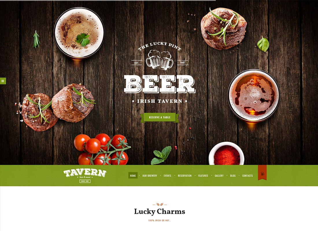 Tavern | Pub, Restaurant & Brewery Site Template