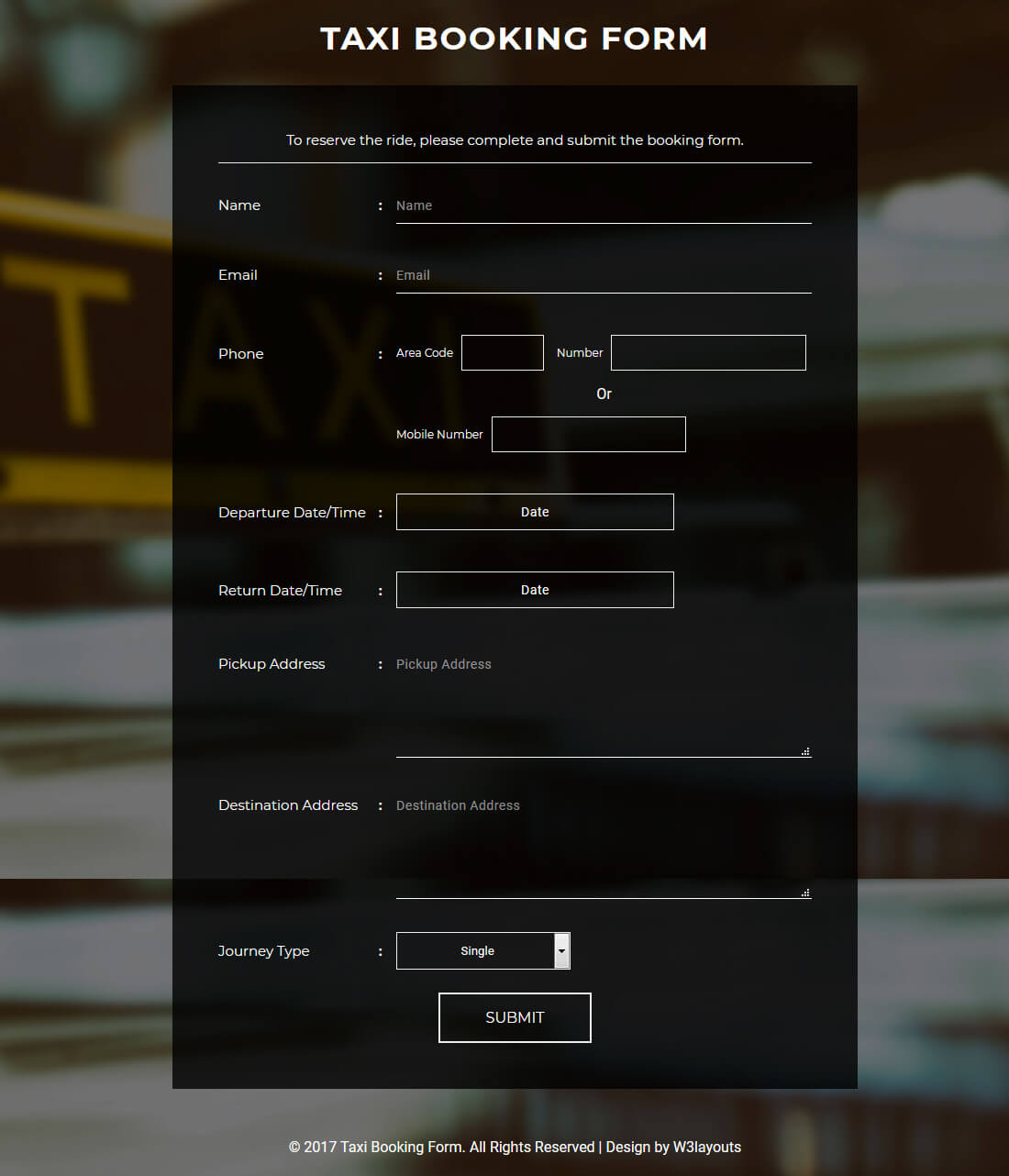 taxi-booking-form