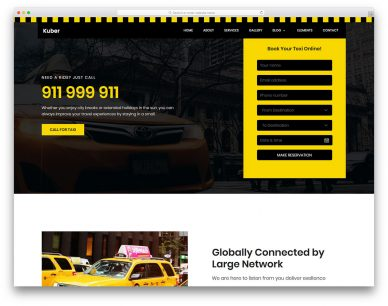 Taxi Free Template
