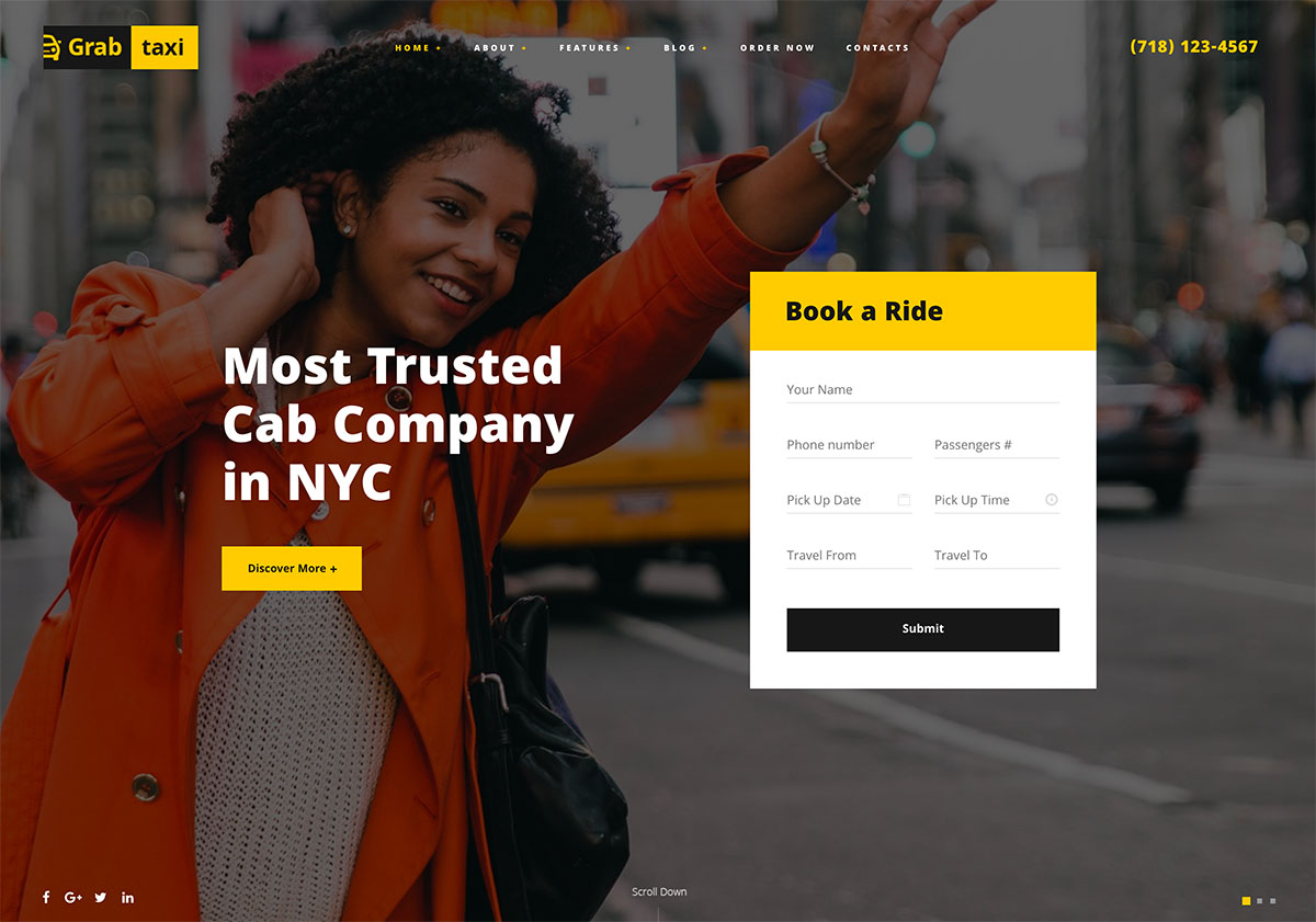 10 Premium WordPress Templates For Taxi And Car Rental Services