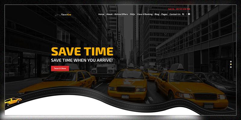 TaxiGo - Taxi Company & Cab Service WordPress Theme