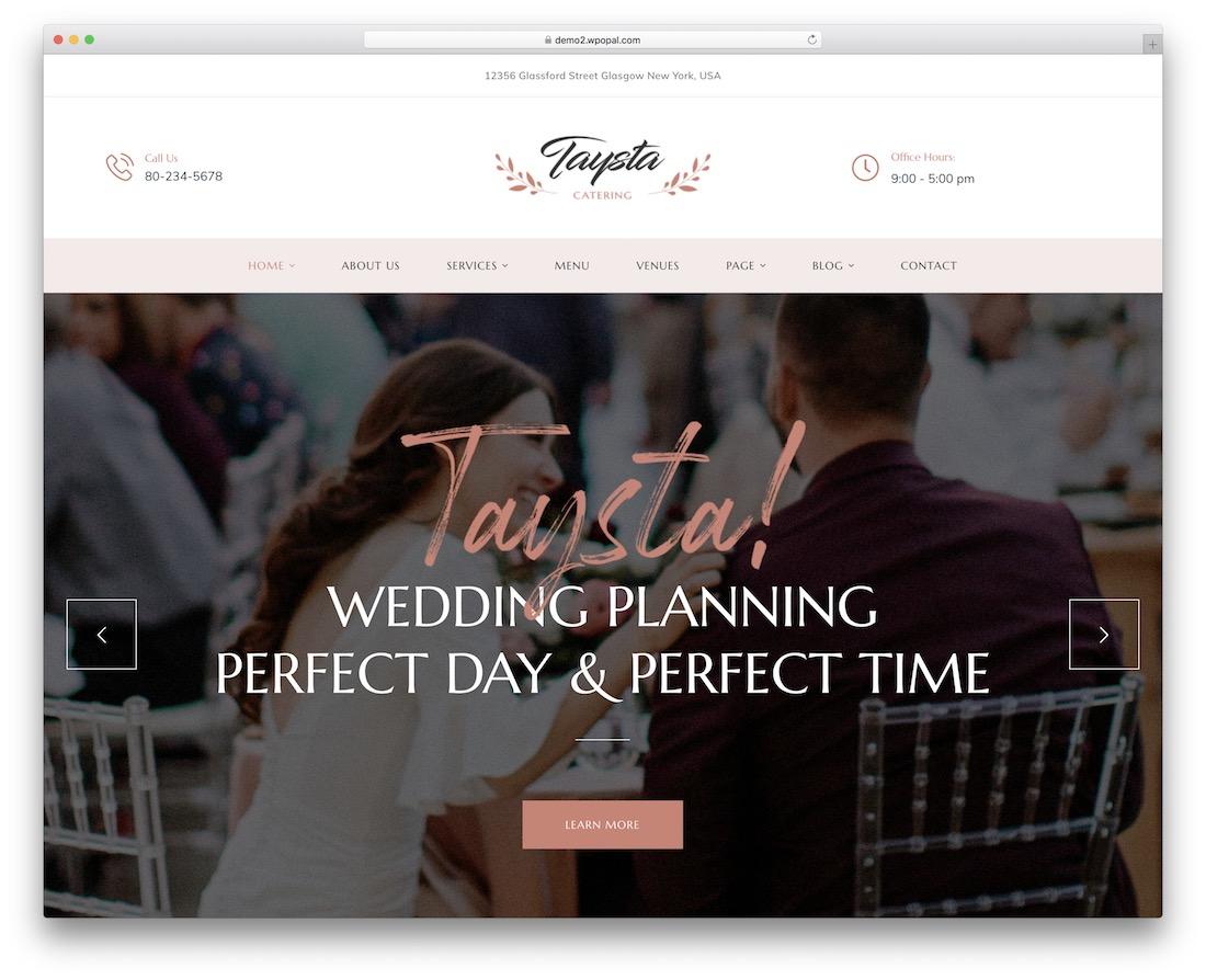 taysta wedding website template