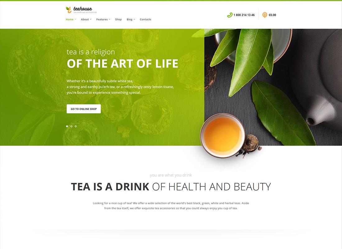 Tea House - Tea Store and Cafe WordPress Theme