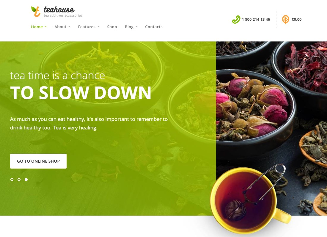 TeaHouse | Tea Store and Coffee Shop WordPress Theme