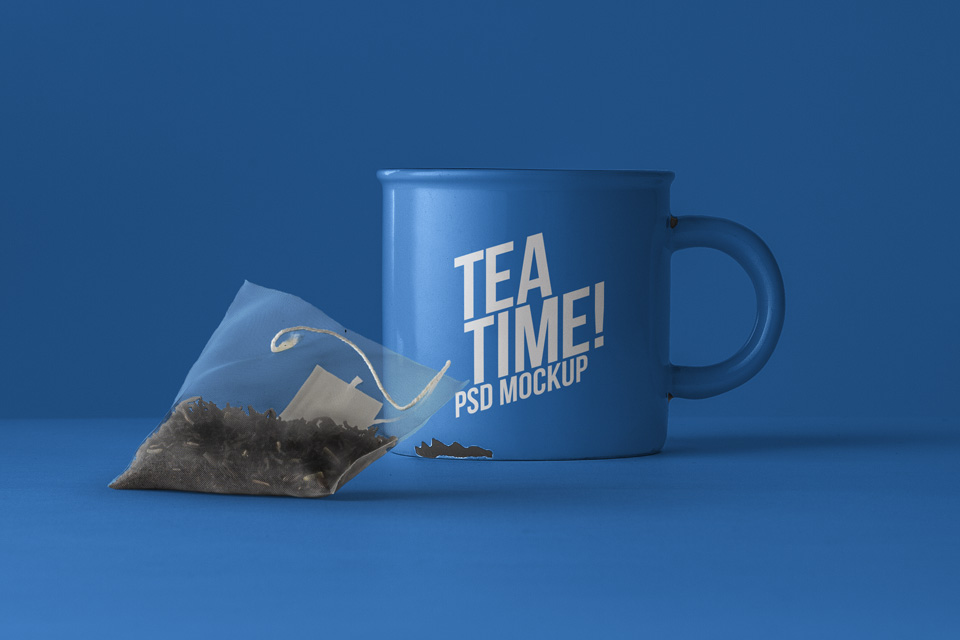 tea mug psd mockup