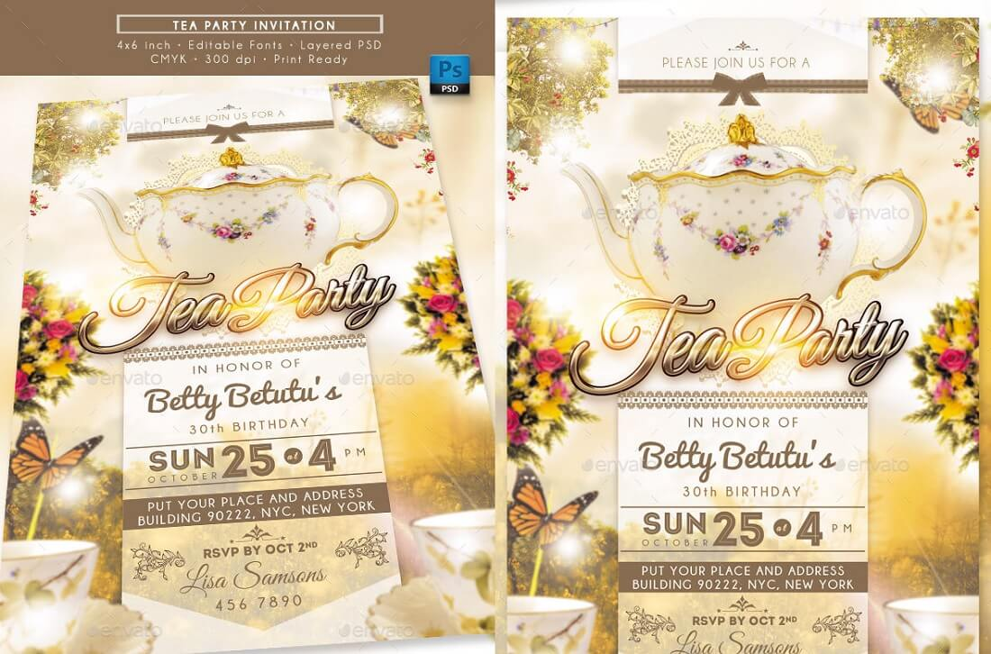 25 Best Editable Party Invitation Templates in 2019 - Colorlib