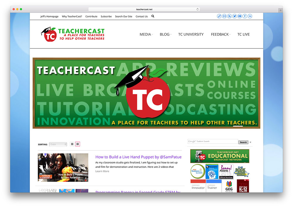 teachercast-education-site-with-the7-theme