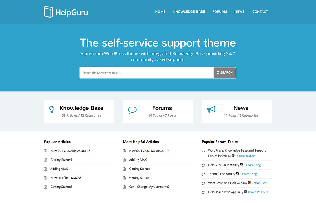 12 Innovative Wordpress Tech Support Themes 2015