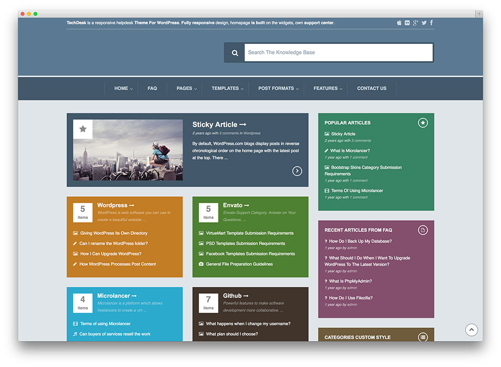 13 professional wordpress knowledge base themes and for Knowledge base document template