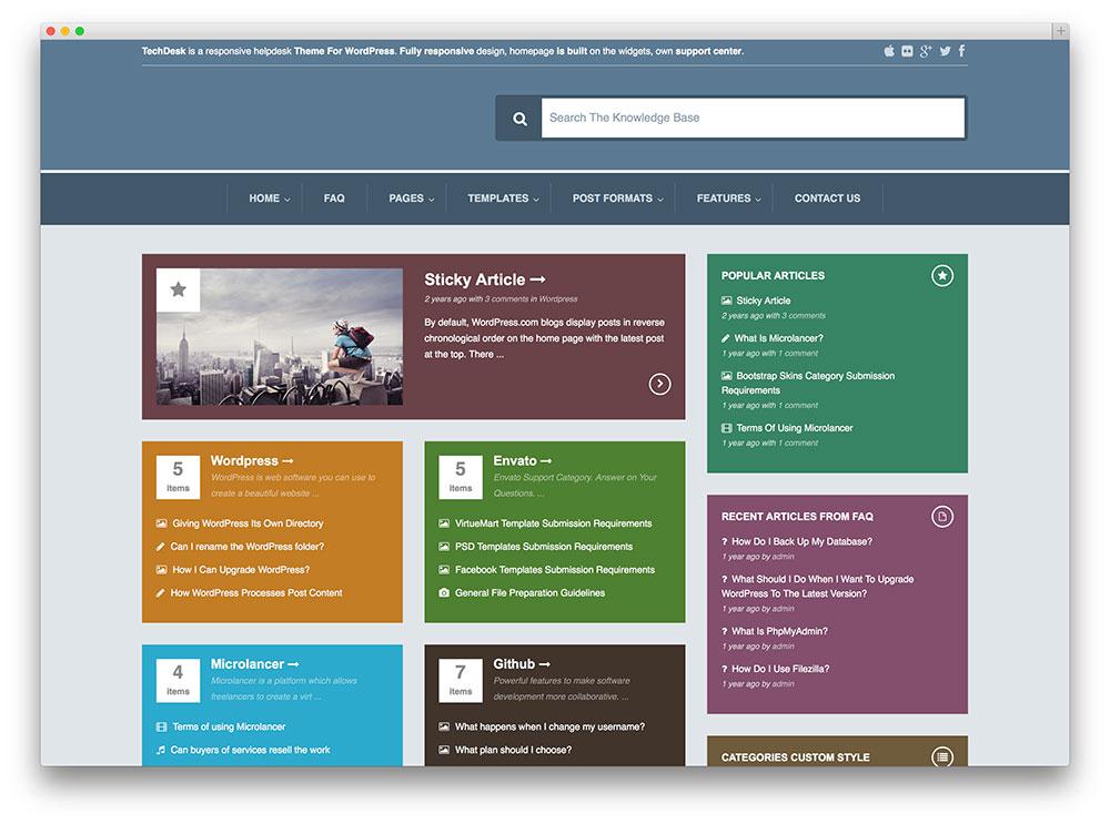 13 innovative wordpress tech support themes plugins 2017 colorlib