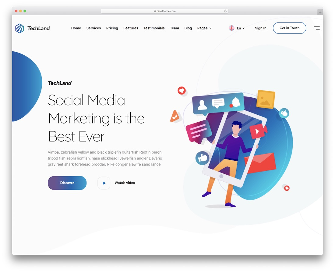 techland sales page wordpress theme