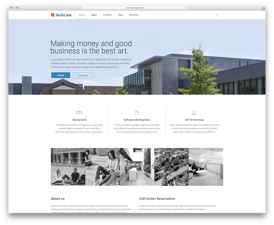 techline drupal business template