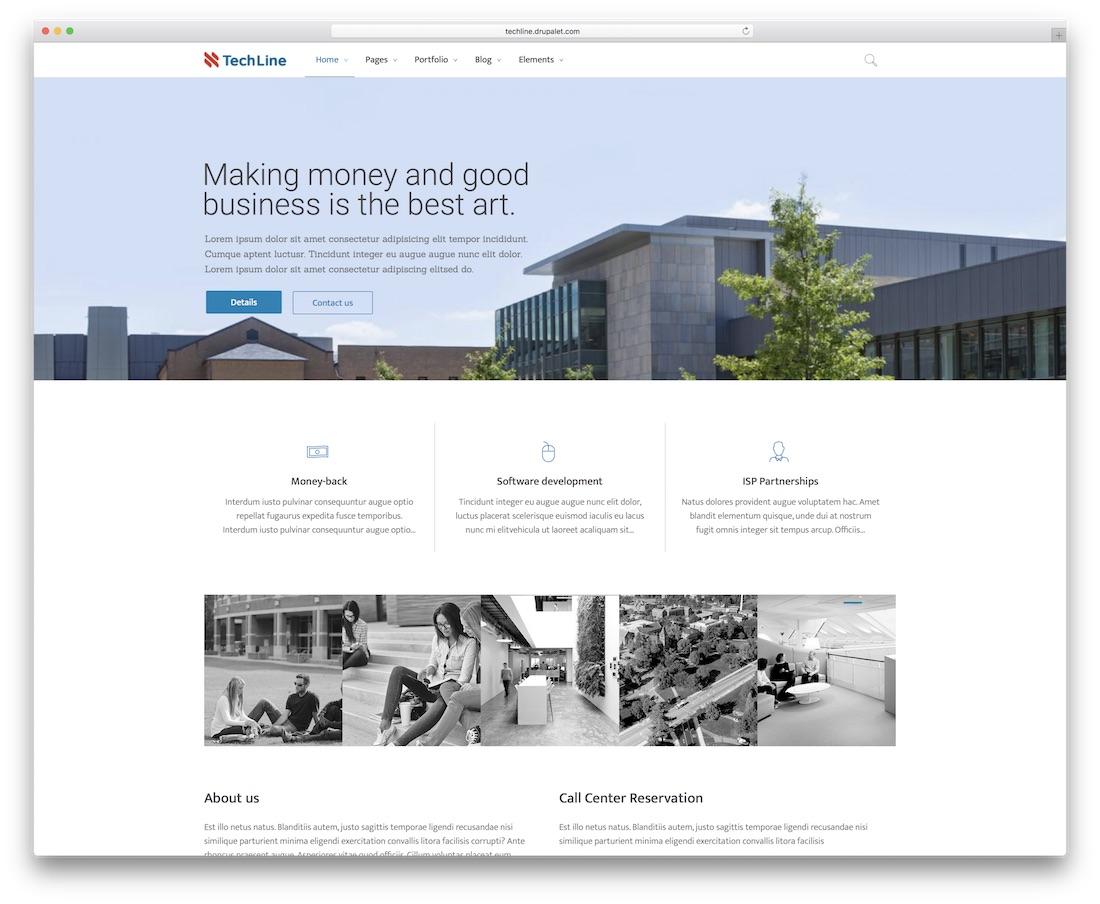 techline drupal business template