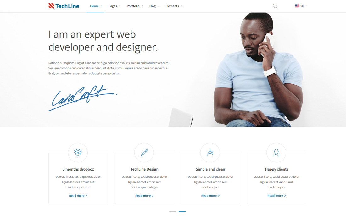 techline-simple-bootstrap-templates