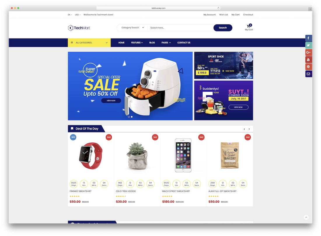 techmart magento technology theme