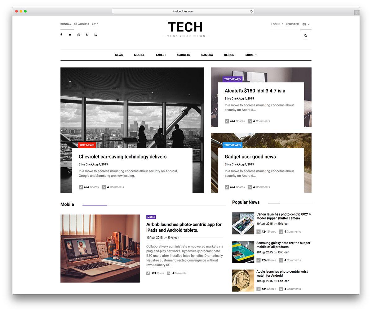 31 Best Free News Website Templates 2019 - Colorlib