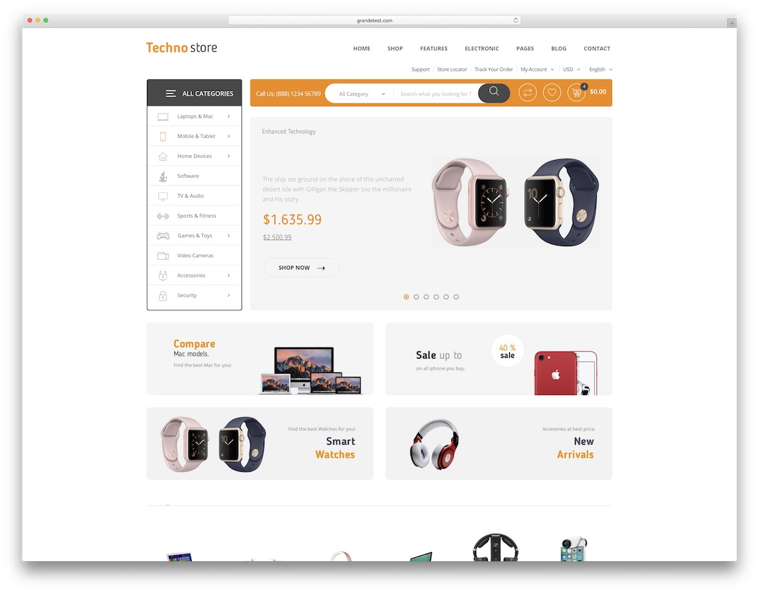 techno store technology website template
