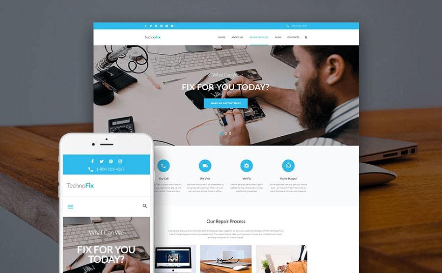 TechnoFix - Tech Repair Company Responsive WordPress Theme