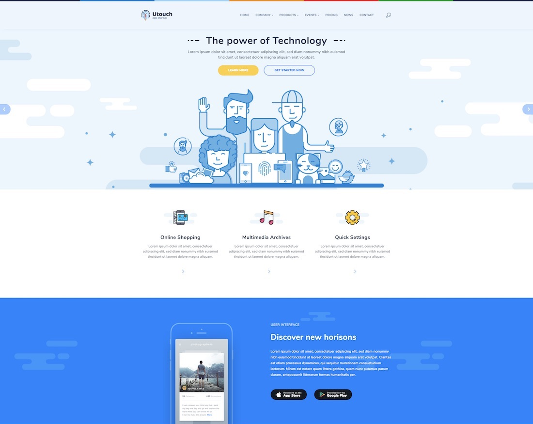 31 technology website templates for apps software 2018