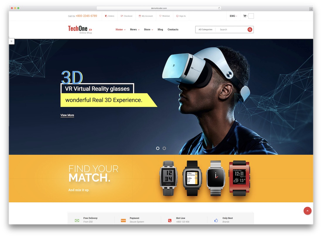techone magento technology theme