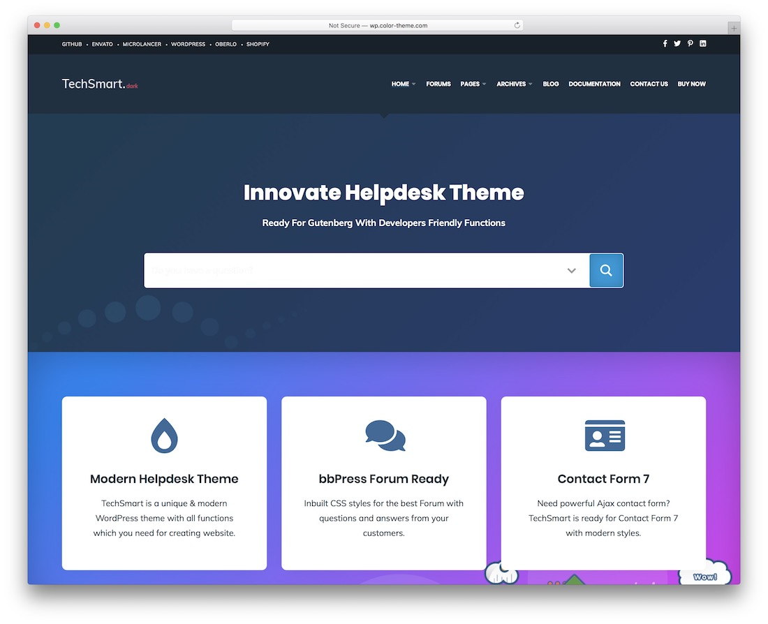 techsmart wordpress theme