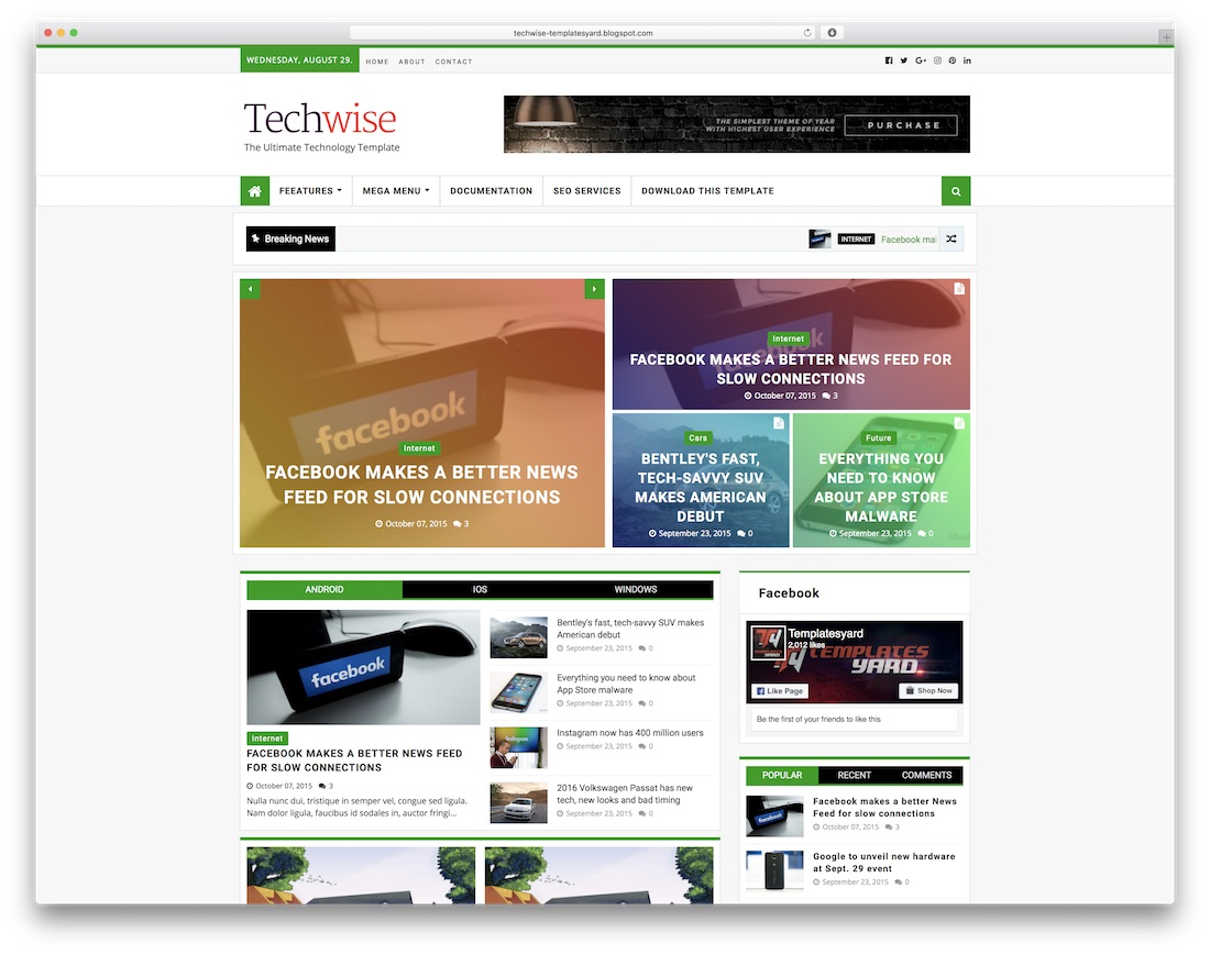 techwise free blogger template