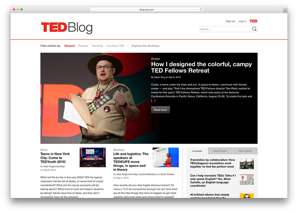 ted-simple-wordpress-blog