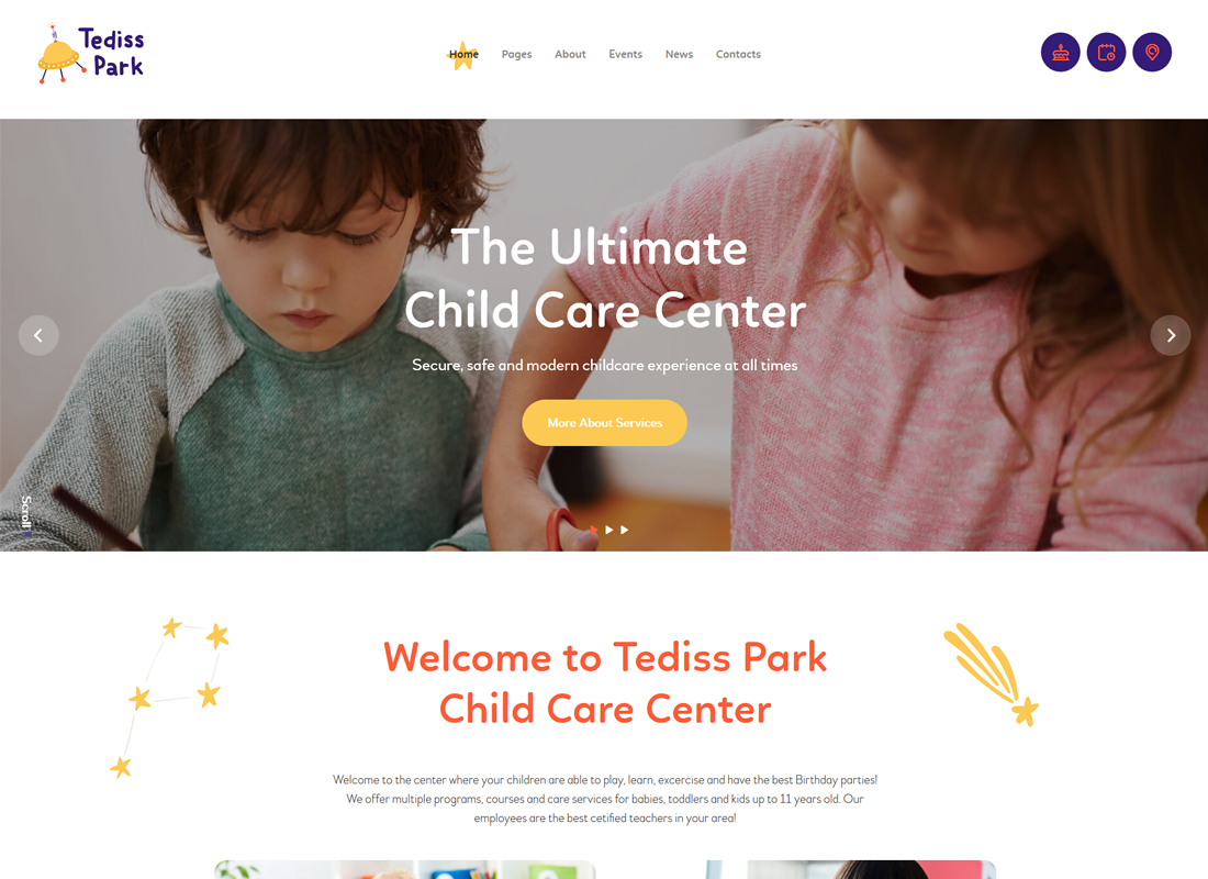 Tediss | Play Area & Child Care Center WordPress Theme