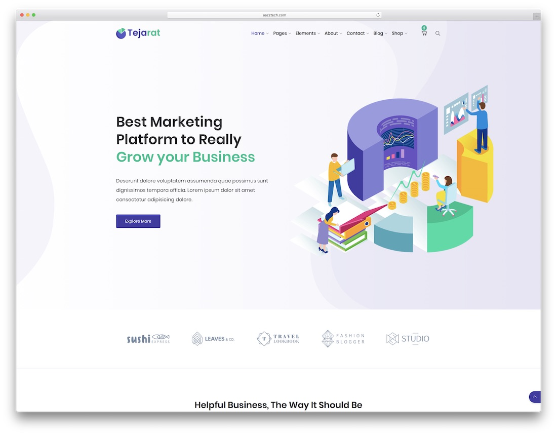 tejarat bootstrap business website template