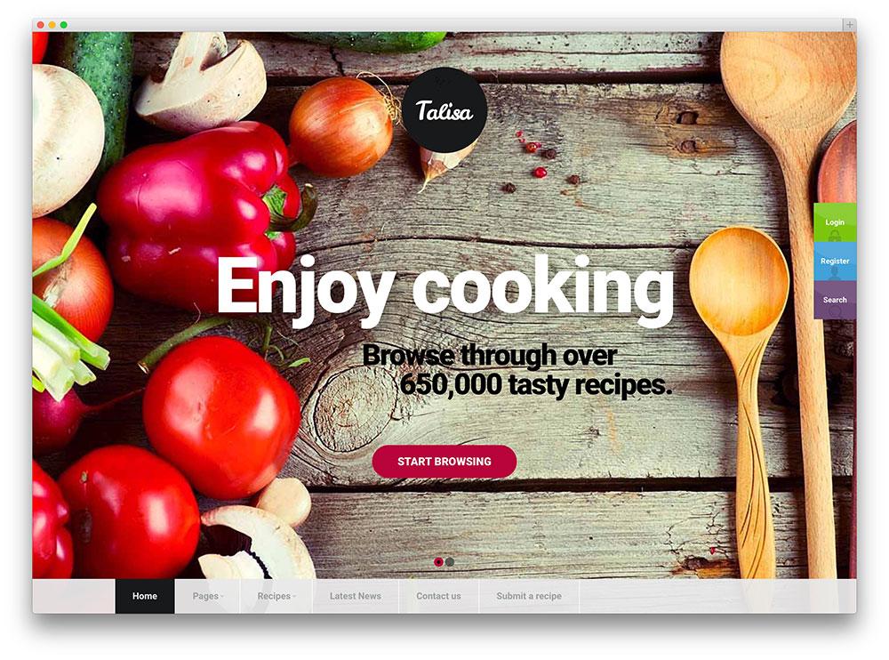 telisa recipe sharing wordpress theme