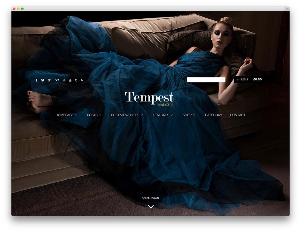 tempest full screen magazine