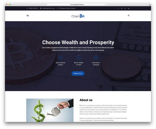 Templates Cryptocurrency Blog