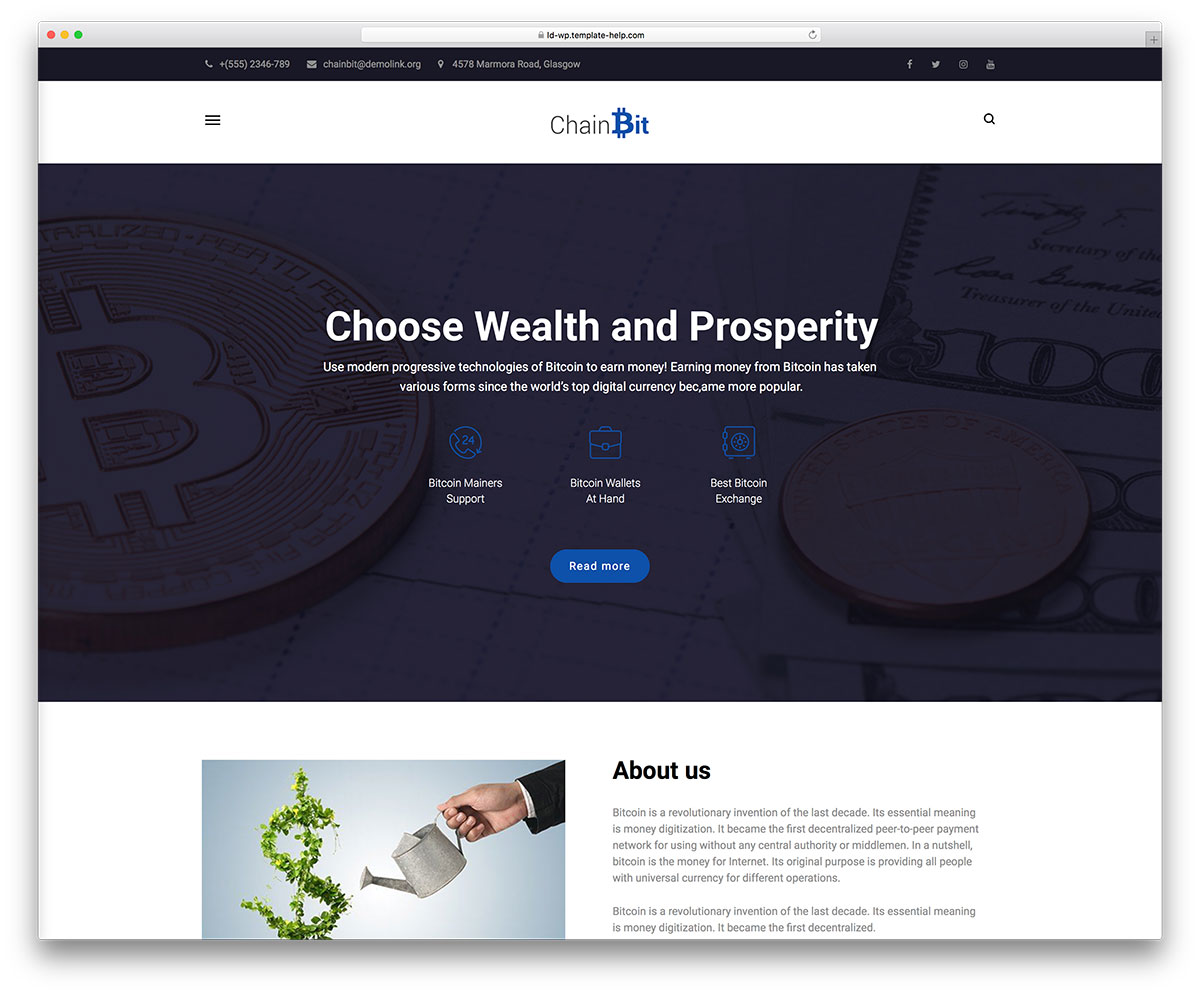 12 Best Templates for Cryptocurrency Blog 2019 - Colorlib