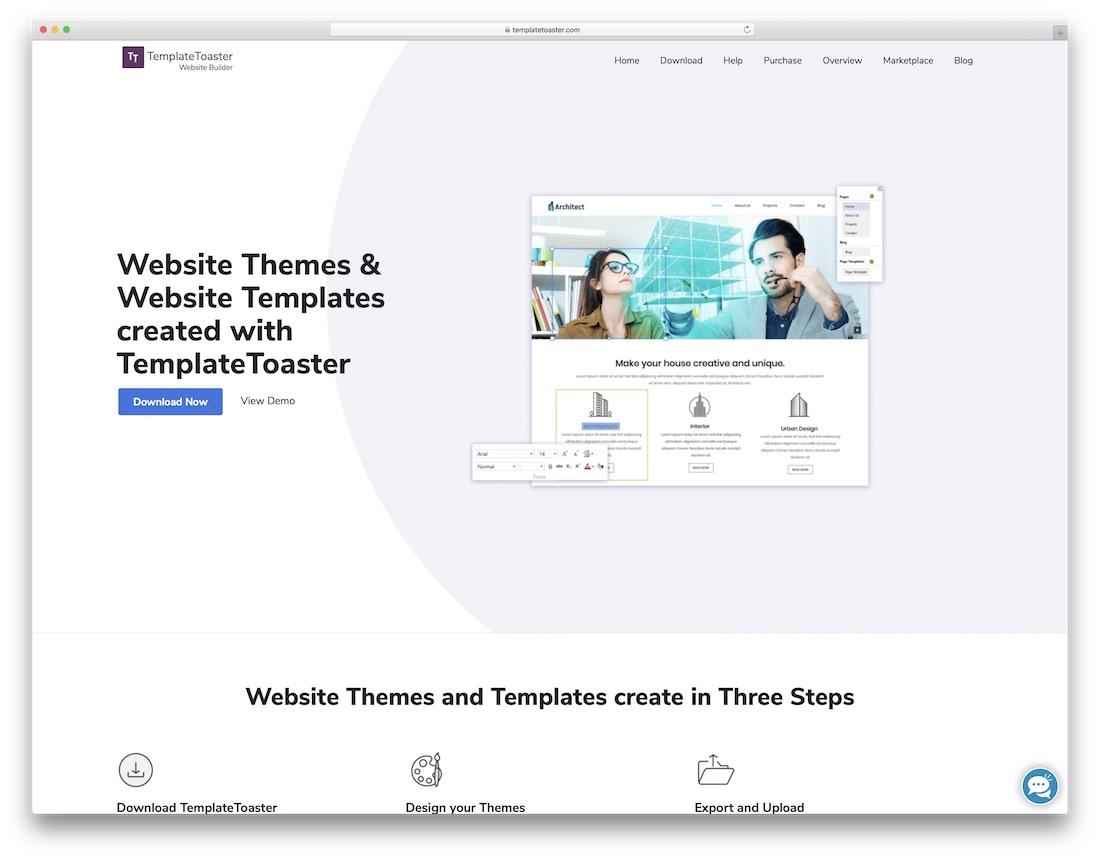 templatetoaster website builder for seo