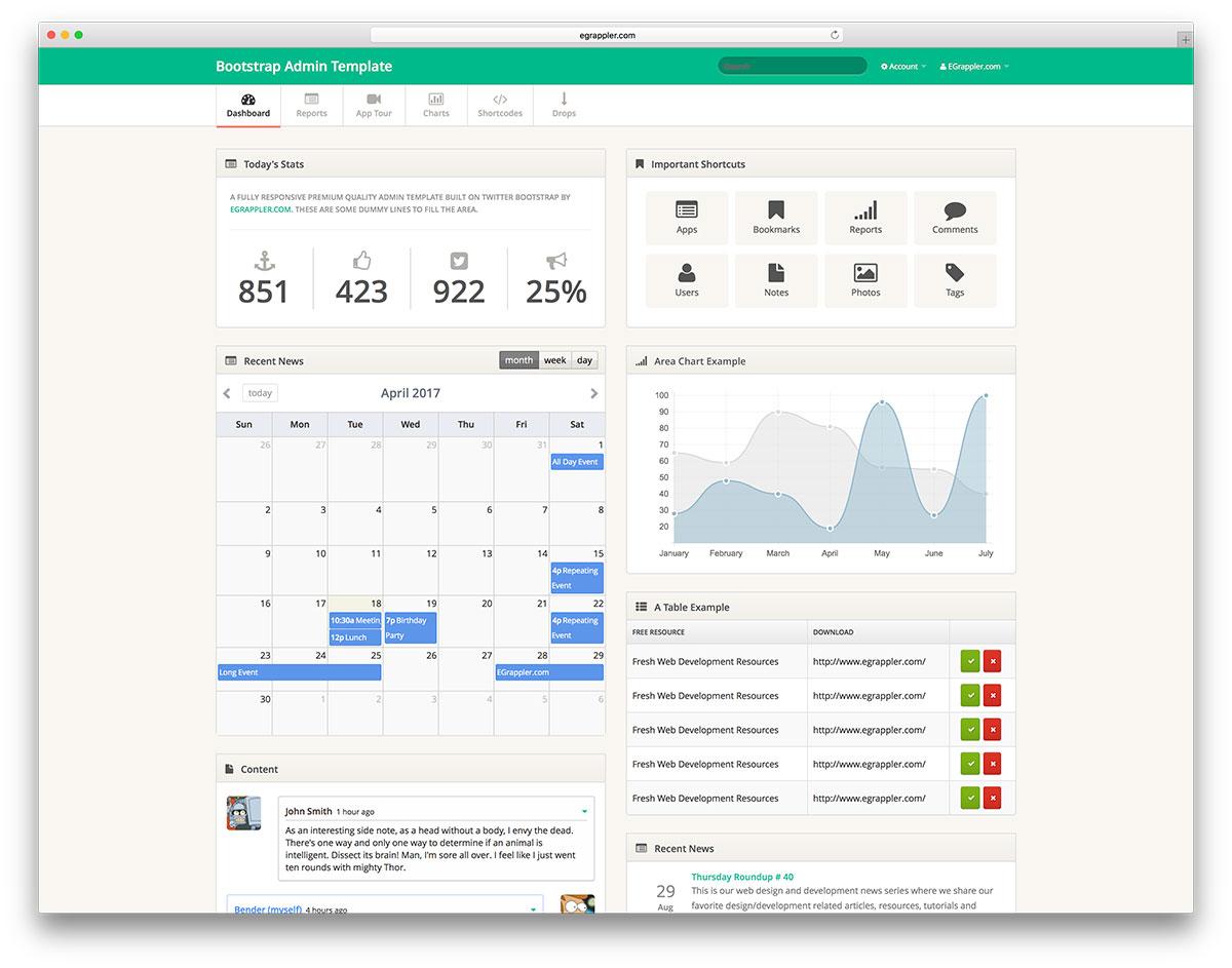 20 Free Bootstrap Admin Dashboard Templates 2018 - Colorlib