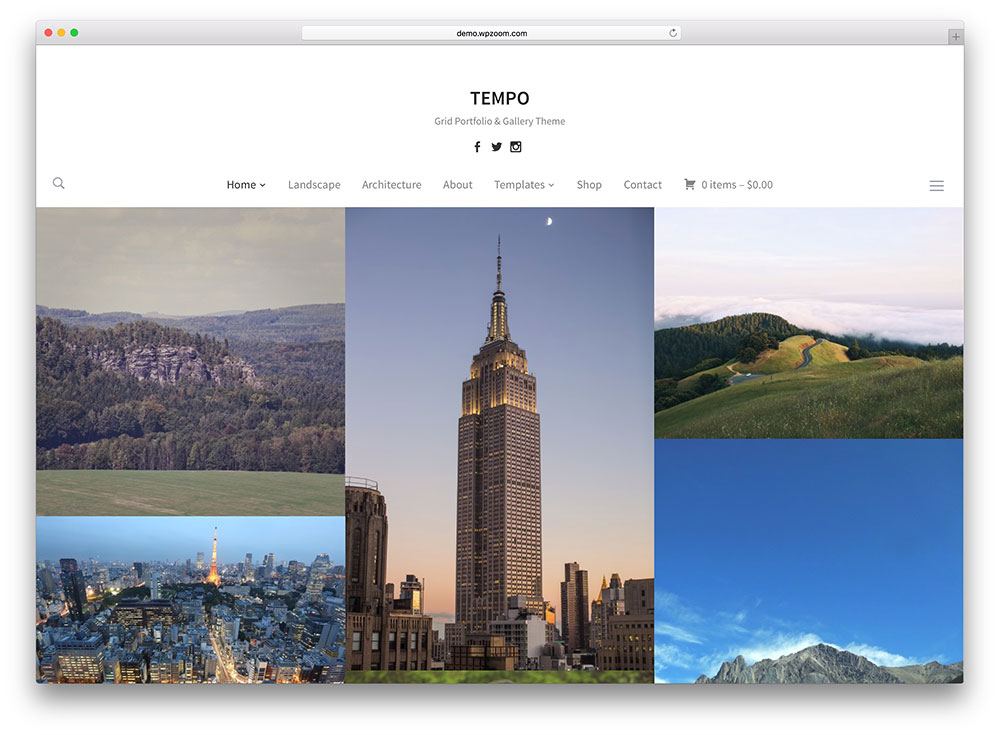 tempo - simple photography gallery theme